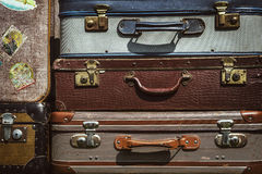 Stacked suitcases Royalty Free Stock Photos