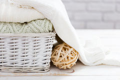 Stacked sweaters Stock Images