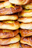 Stacked sweet buns Royalty Free Stock Image