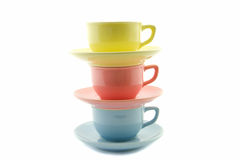 Stacked tea cups Stock Photos