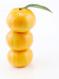Stacked three oranges Stock Photos