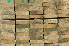 Stacked timber planks Royalty Free Stock Images