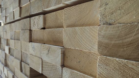 Stacked timbers background Stock Image