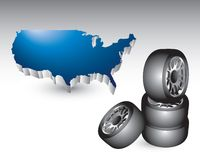 Stacked tires by the united states Stock Images