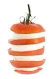 Stacked tomato with mozzarella cheese Royalty Free Stock Photo