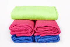 Stacked towels Royalty Free Stock Images