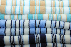 Stacked towels Stock Photo