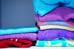 Stacked towels Stock Image