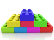 Stacked toy bricks in various colors Stock Photography