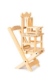 Stacked toy wooden chairs Royalty Free Stock Photography