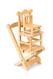 Stacked toy wooden chairs Stock Photography