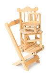 Stacked toy wooden chairs Royalty Free Stock Image