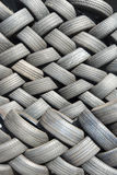 Stacked Tyres in a pattern Stock Photography