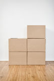 Stacked Up Carton Moving Boxes Stock Images