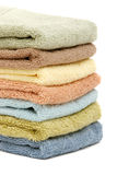 Stacked up spa / bath towels Stock Image