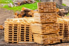Stacked up wood Stock Image