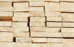 Stacked up wooden boards Stock Photos