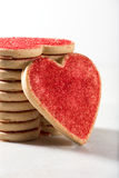 Stacked Valentine cookies Royalty Free Stock Image