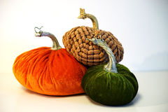 Stacked velvet pumpkin team Stock Photography