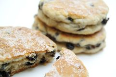 Stacked welsh cakes Stock Photos