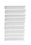 Stacked white books Stock Images