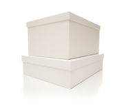 Stacked White Boxes with Lids Isolated Royalty Free Stock Image