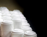 Stacked white coffee cups Stock Photos