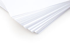 Stacked white paper Royalty Free Stock Photos