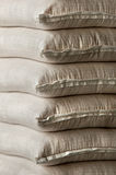 Stacked white sacks Royalty Free Stock Photo
