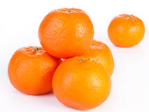 Stacked whole orange, isolated Stock Image