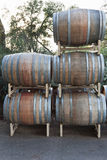 Stacked Wine Barrels Stock Photo