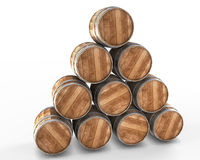 Stacked wine barrels Royalty Free Stock Photos