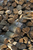 Stacked wood Royalty Free Stock Photography