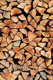 Stacked wood background Stock Photography