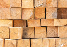 Stacked wood beams Stock Images