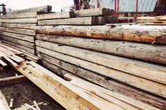 Stacked wood Stock Photography