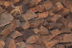 Stacked wood cut background-1. Stock Photography