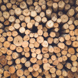 Stacked of wood log  for construction buildings background Royalty Free Stock Images
