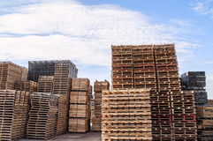 Stacked Wood Pallets And Material Royalty Free Stock Photo