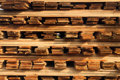 Stacked wood picture Stock Images