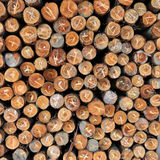 Stacked wood pine timber for construction buildings Background Stock Photo