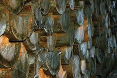 Stacked wood Stock Image