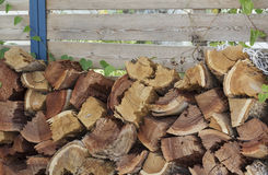 Stacked wood for the stove Royalty Free Stock Image