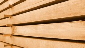 Stacked wooden beams Royalty Free Stock Image