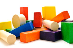 Stacked wooden blocks Royalty Free Stock Photography