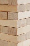 Stacked wooden blocks closeup Royalty Free Stock Image