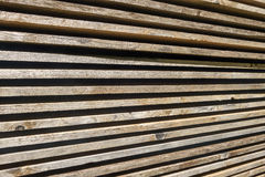 Stacked wooden boards Stock Photography