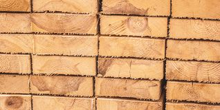 Stacked wooden boards Stock Images