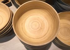 Stacked Wooden Bowls Royalty Free Stock Image
