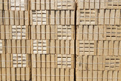Stacked wooden crates Stock Photos